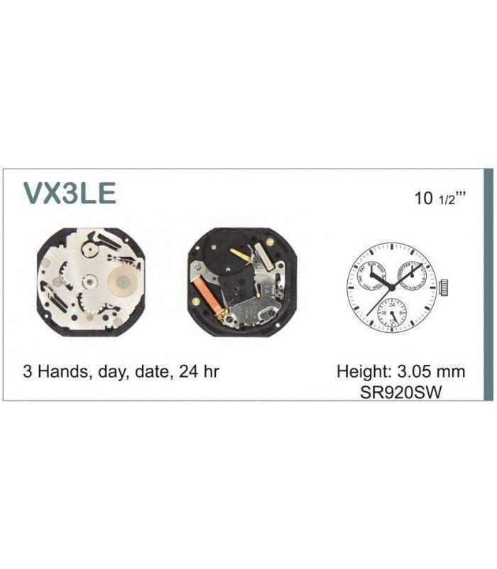 Máquinas ou movimentos para relógio, HATTORI VX3L
