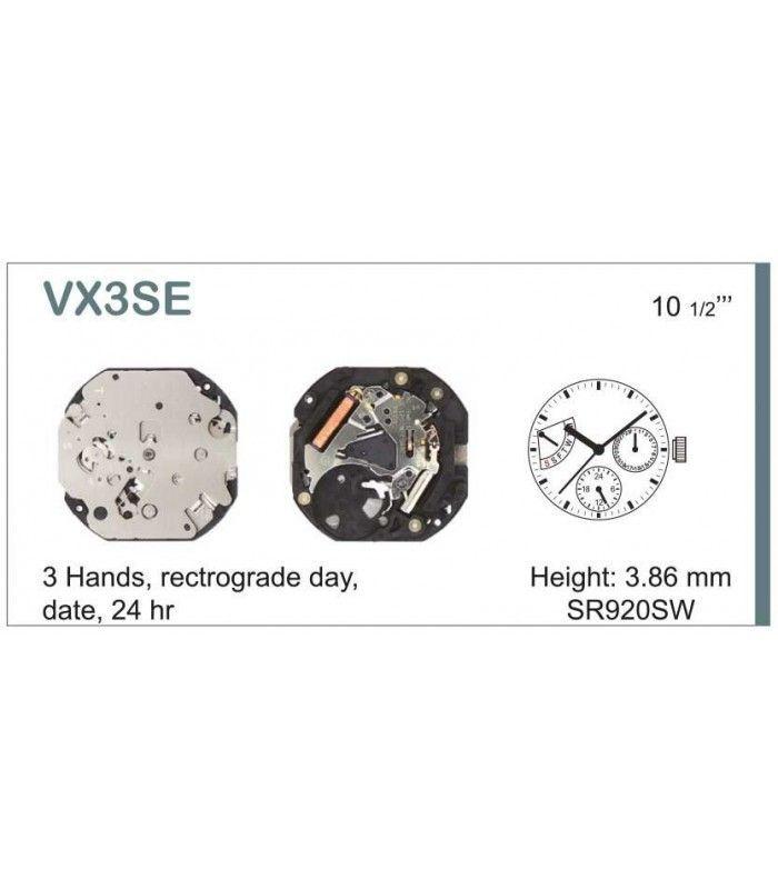 Movement for watches, HATTORI VX3S