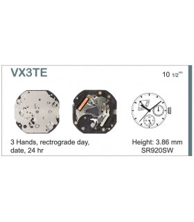 Maquinaria de reloj Ref SEIKO VX3T