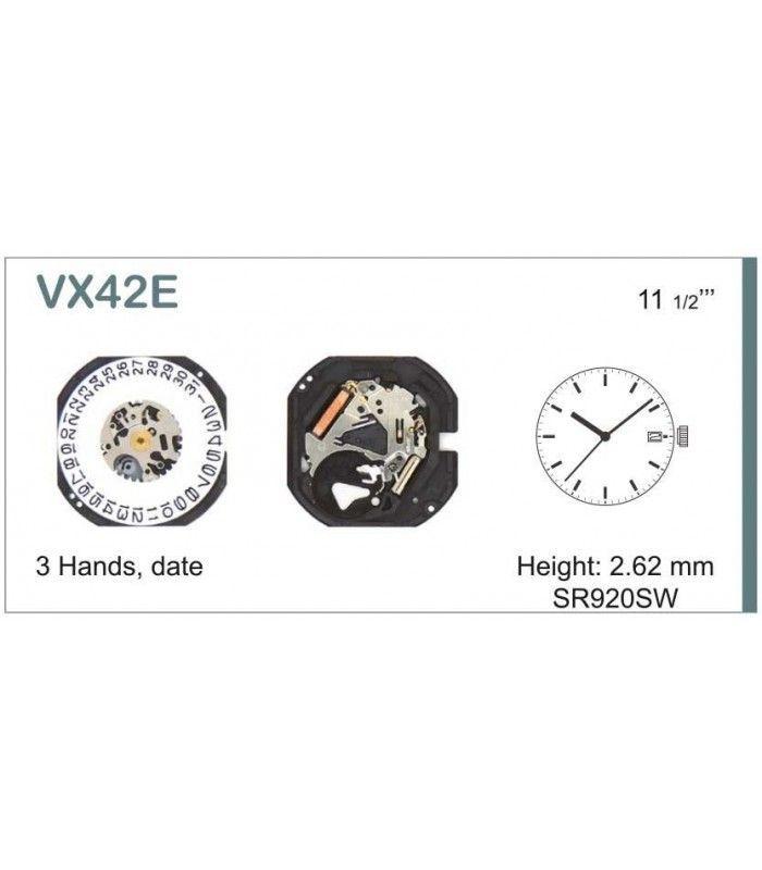 Movement for watches, HATTORI VX42