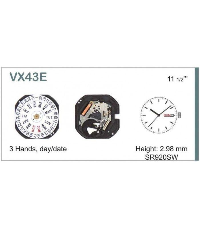vements de montre, HATTORI VX43