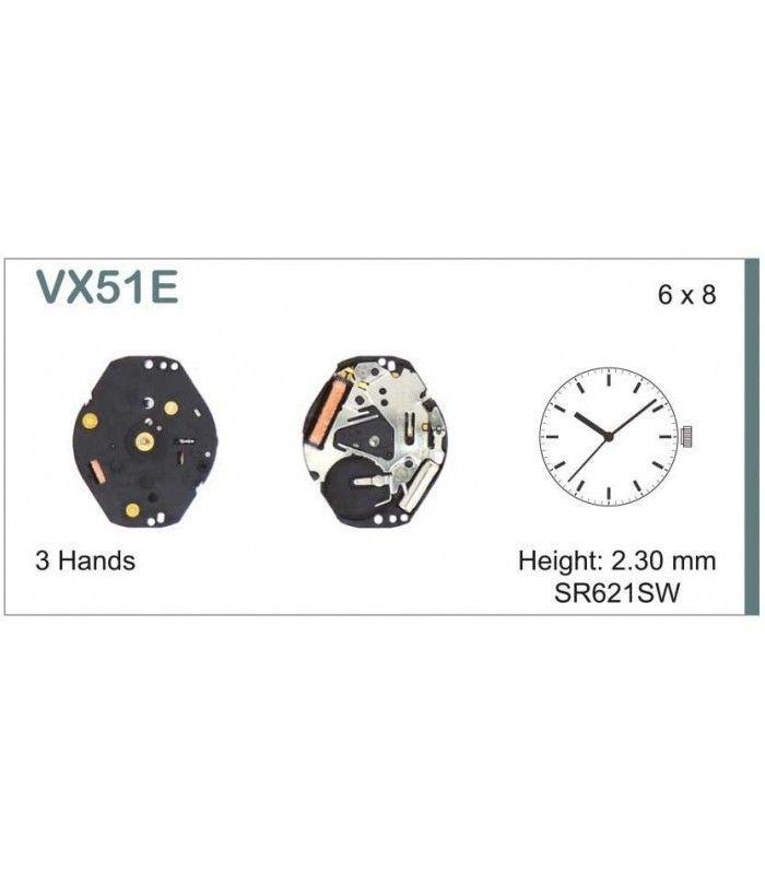 Máquina o movimiento para reloj HATTORI VX51