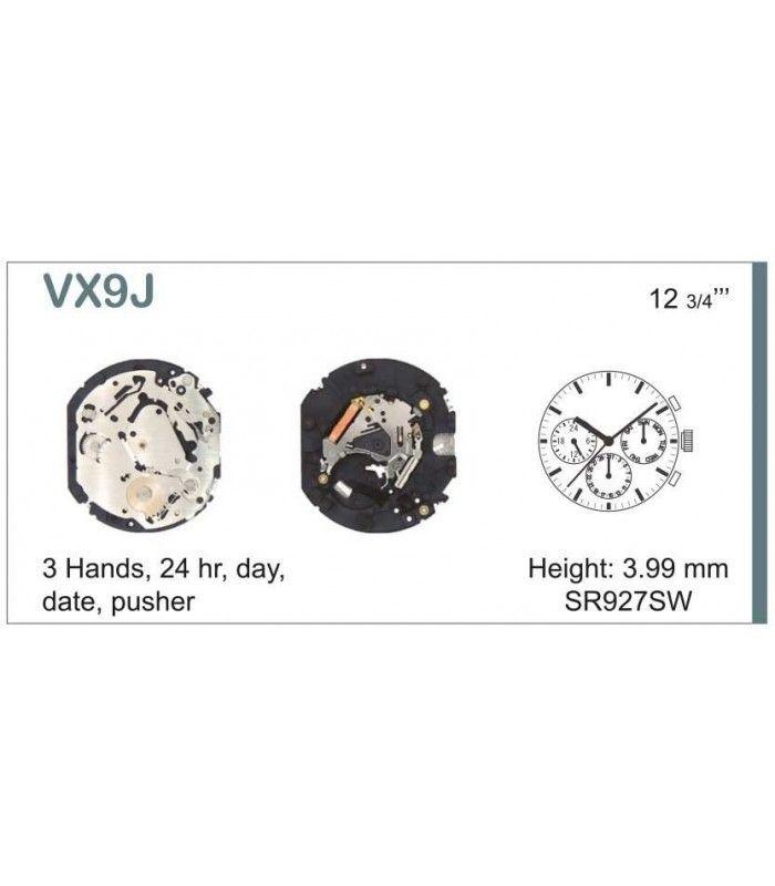 Máquinas ou movimentos para relógio, HATTORI VX9J