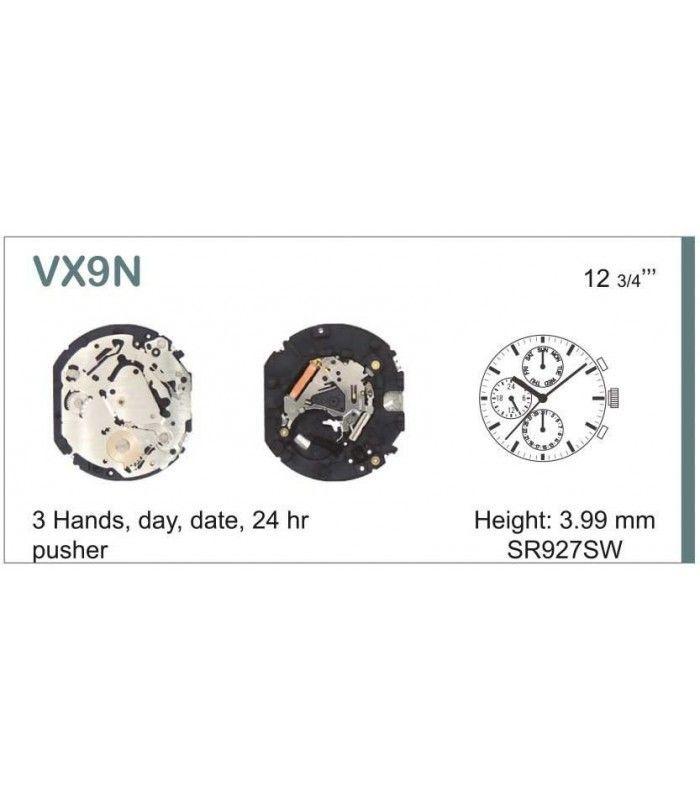 Movement for watches, HATTORI VX9N