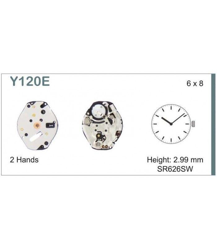 Máquinas ou movimentos para relógio, HATTORI Y120