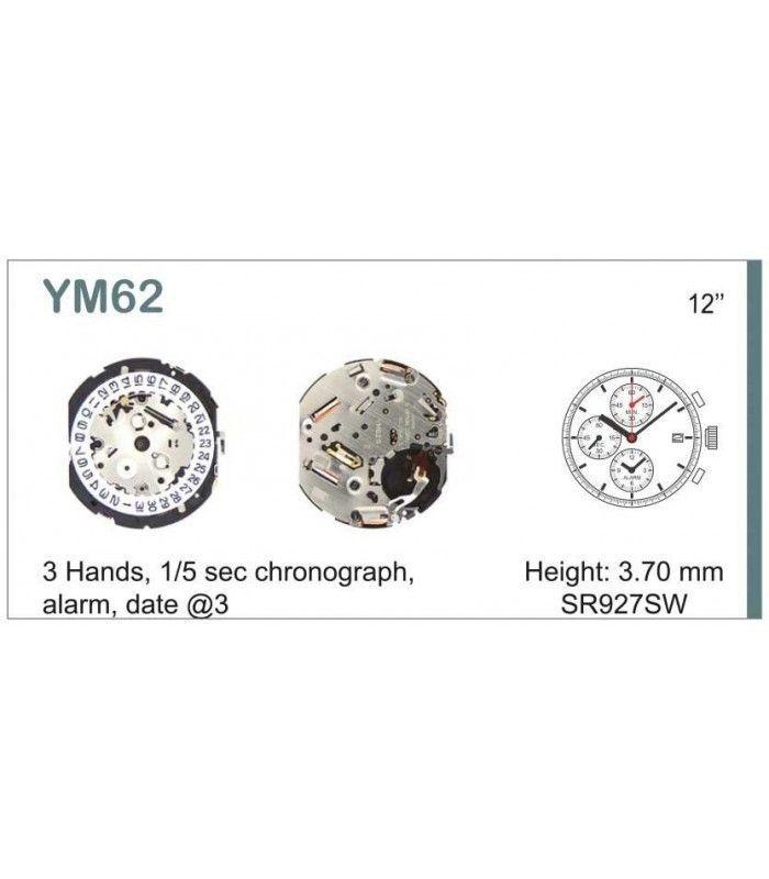 Máquina o movimiento para reloj HATTORI YM62