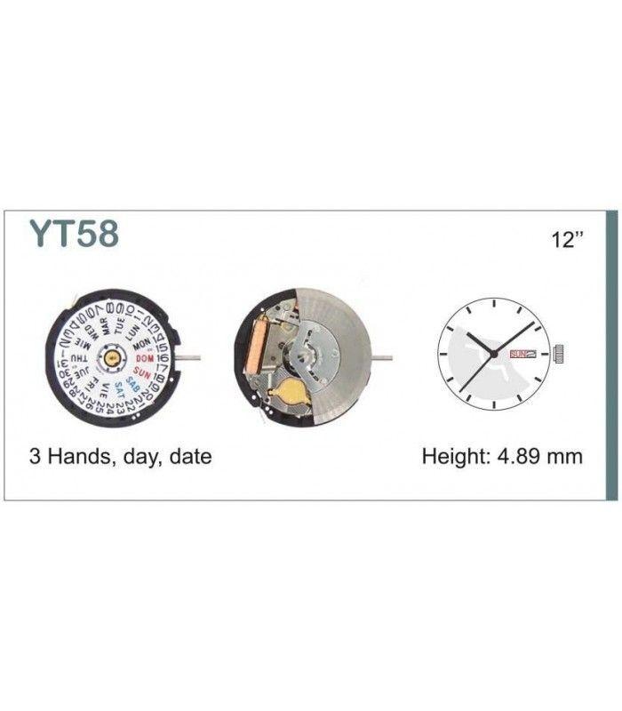 vements de montre, HATTORI YT58