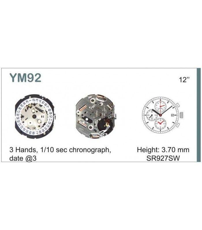 Máquinas ou movimentos para relógio, HATTORI YM92