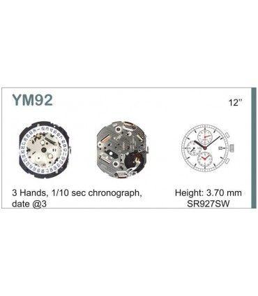 Maquinaria de reloj Ref SEIKO YM92