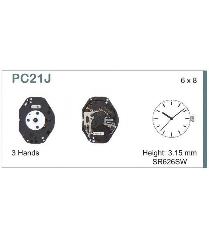 Máquinas ou movimentos para relógio, HATTORI PC21J