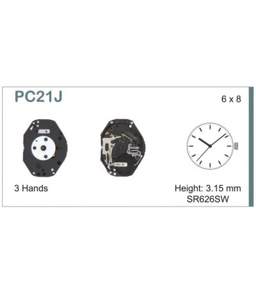 Mecanisme montre Ref SEIKO C21J