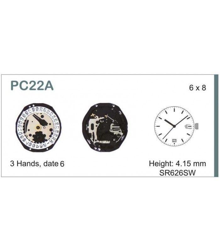 vements de montre, HATTORI PC22D6