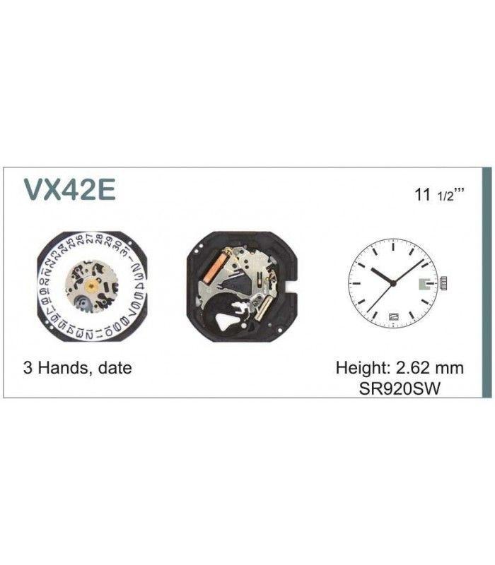 Máquina o movimiento para reloj HATTORI VX42D6