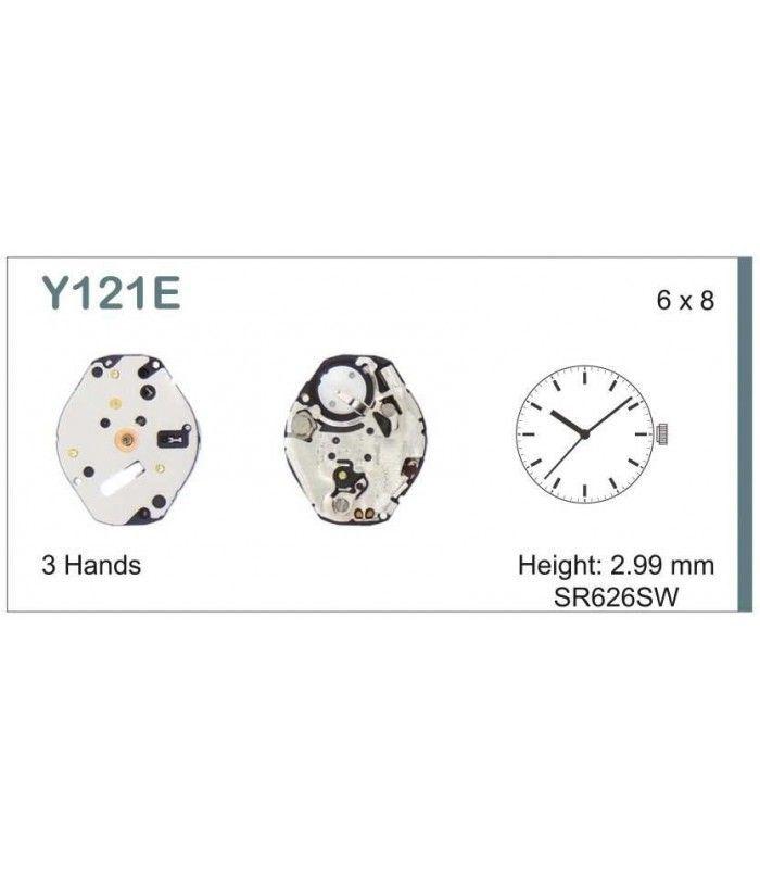 vements de montre, HATTORI Y121E6