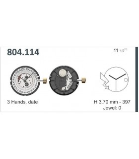 Movement for watches, ETA 804.114