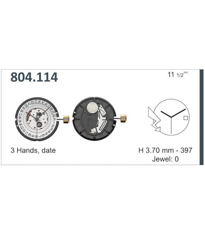 Máquina o movimiento para reloj ETA 804.114