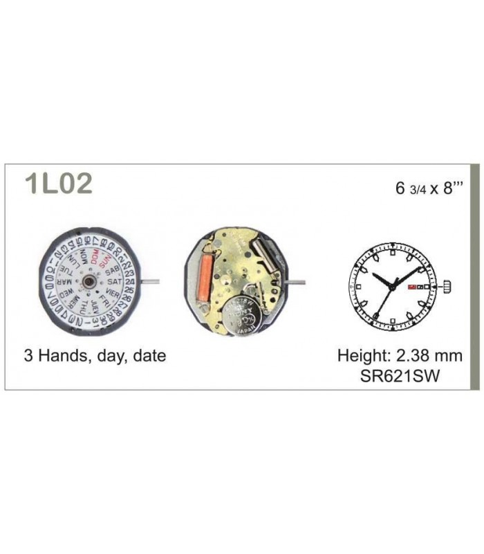 Movement for watches, MIYOTA 1L02