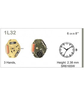 Maquinaria de reloj Ref MIYOTA 1L32