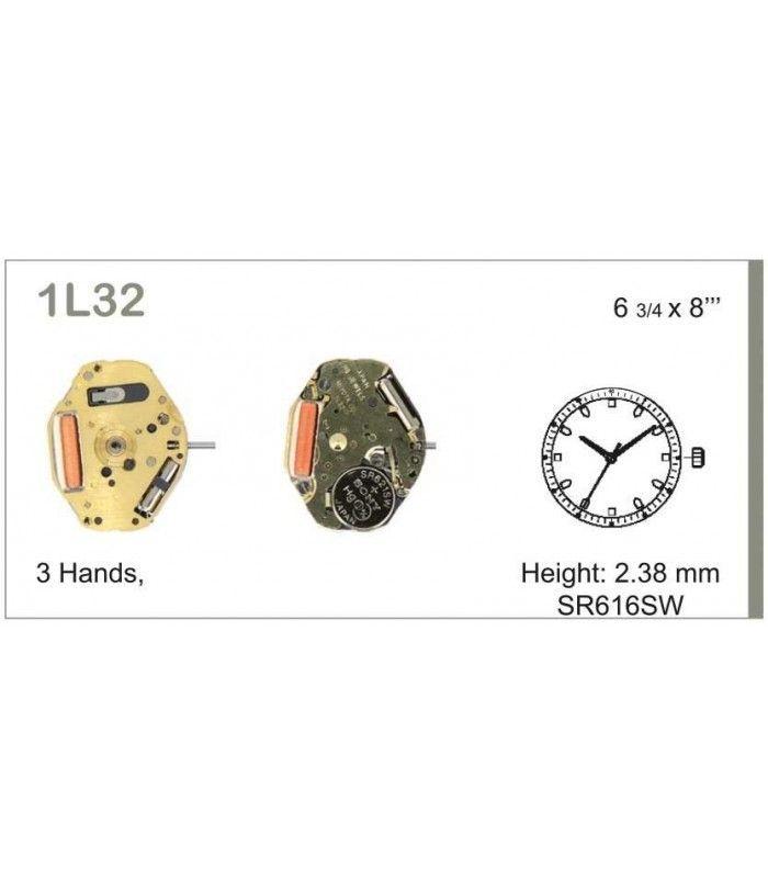 Uhrwerke, MIYOTA 1L32