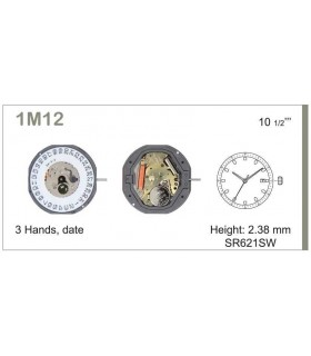 Movement for watches, MIYOTA 1M12
