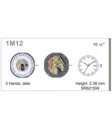 Mecanisme montre Ref MIYOTA 1M12