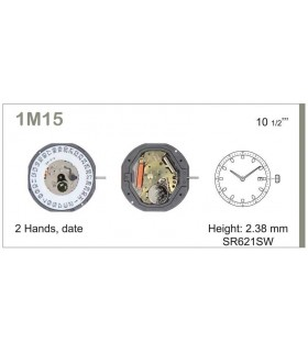 Movement for watches, MIYOTA 1M15