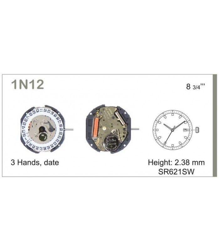 vements de montre, MIYOTA 1N12