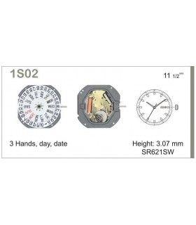 Máquina o movimiento para reloj MIYOTA 1S02