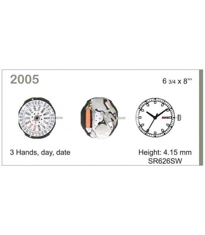 Máquina o movimiento para reloj MIYOTA 2005