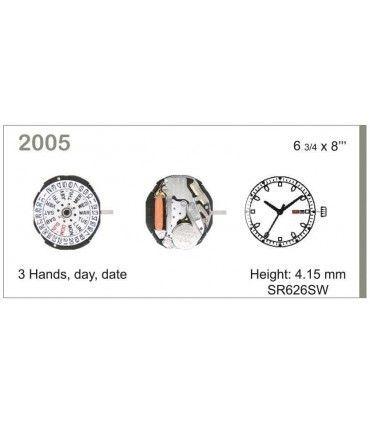 Meccanismo Orologio Ref MIYOTA 2005