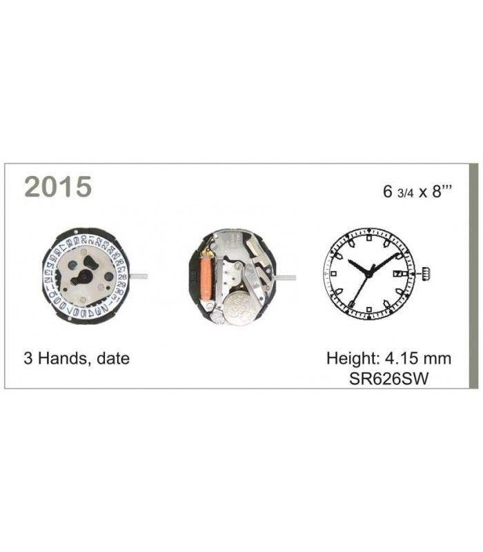 Máquina o movimiento para reloj MIYOTA 2015