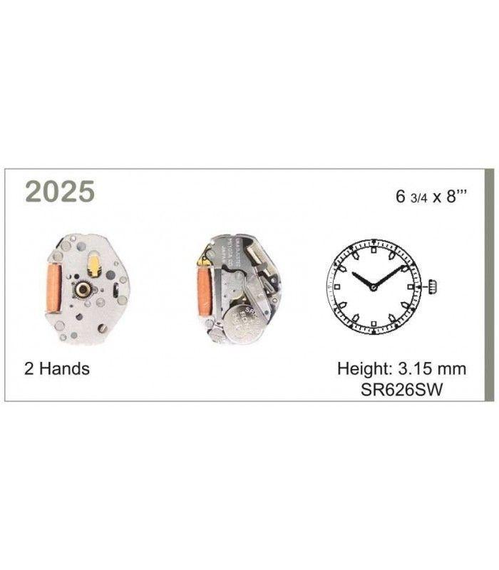 Máquina o movimiento para reloj MIYOTA 2025