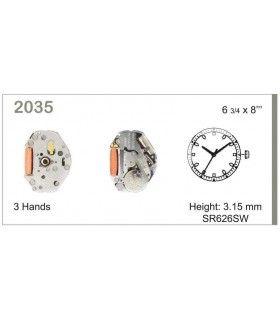 Maquinaria de reloj Ref MIYOTA 2035