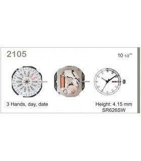 Maquinaria de reloj Ref MIYOTA 2105