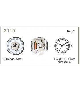vements de montre, MIYOTA 2115