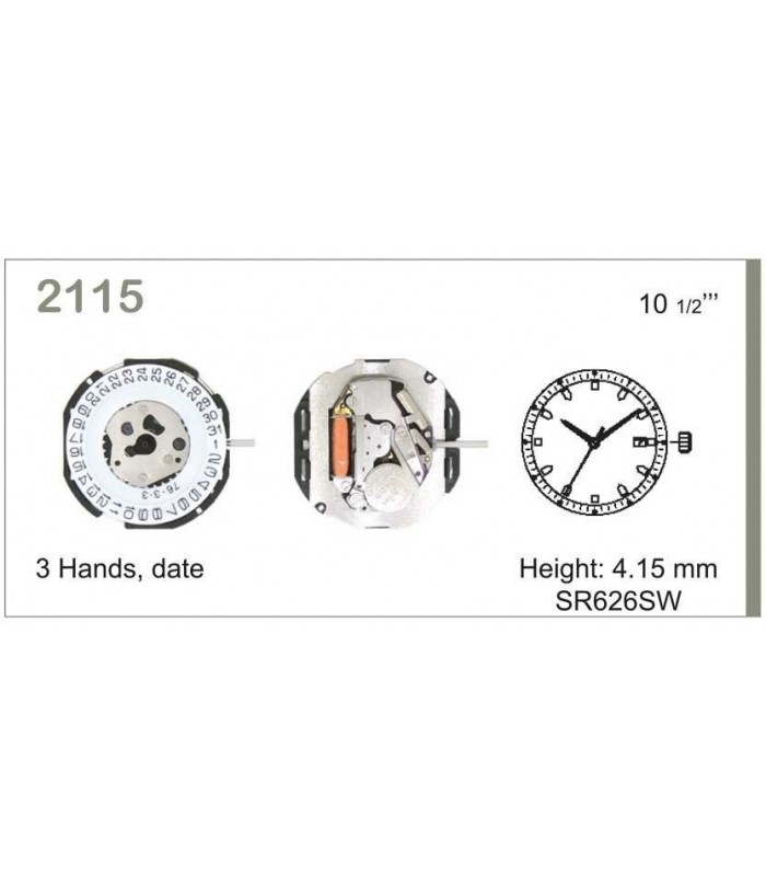 Máquina o movimiento para reloj MIYOTA 2115