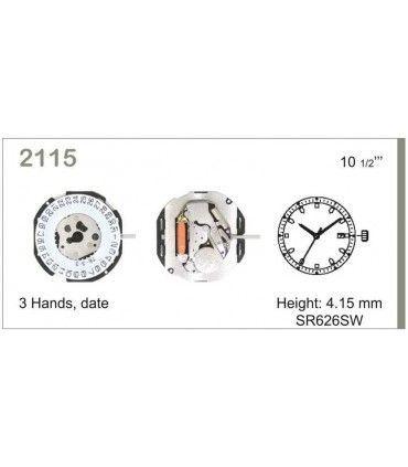 Maquinaria de reloj Ref MIYOTA 2115