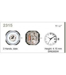 vements de montre, MIYOTA 2315