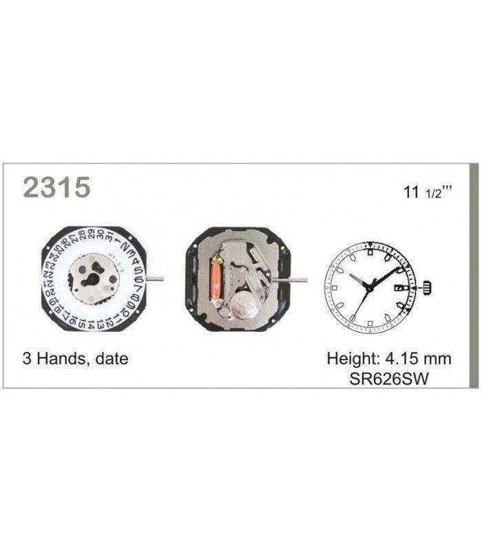 Máquina o movimiento para reloj MIYOTA 2315