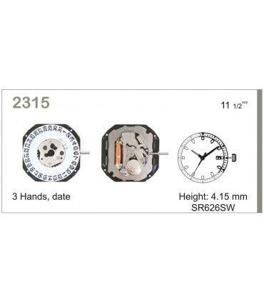 Maquinaria de reloj Ref MIYOTA 2315