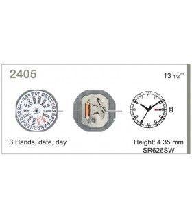 Maquinaria de reloj Ref MIYOTA 2405