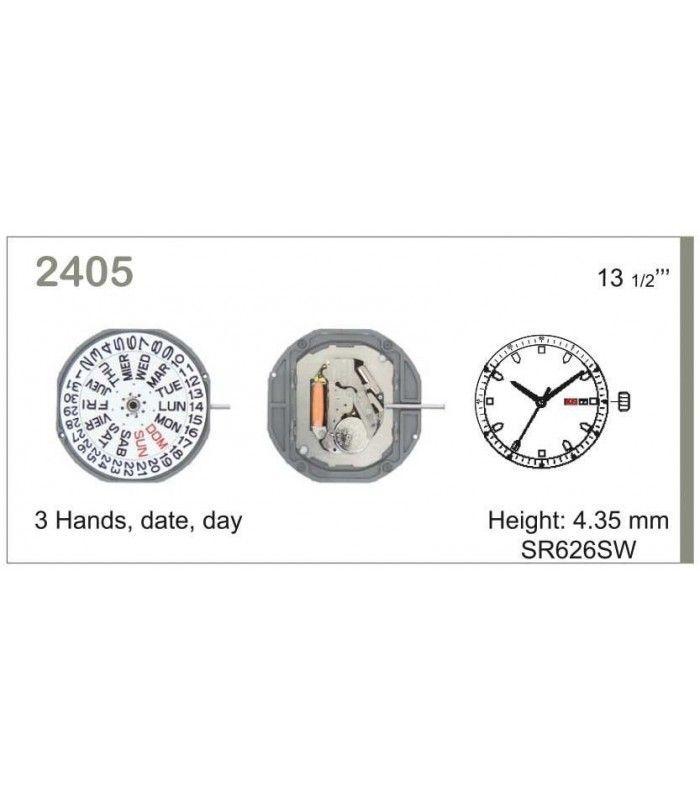 Máquina o movimiento para reloj MIYOTA 2405