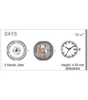 vements de montre, MIYOTA 2415