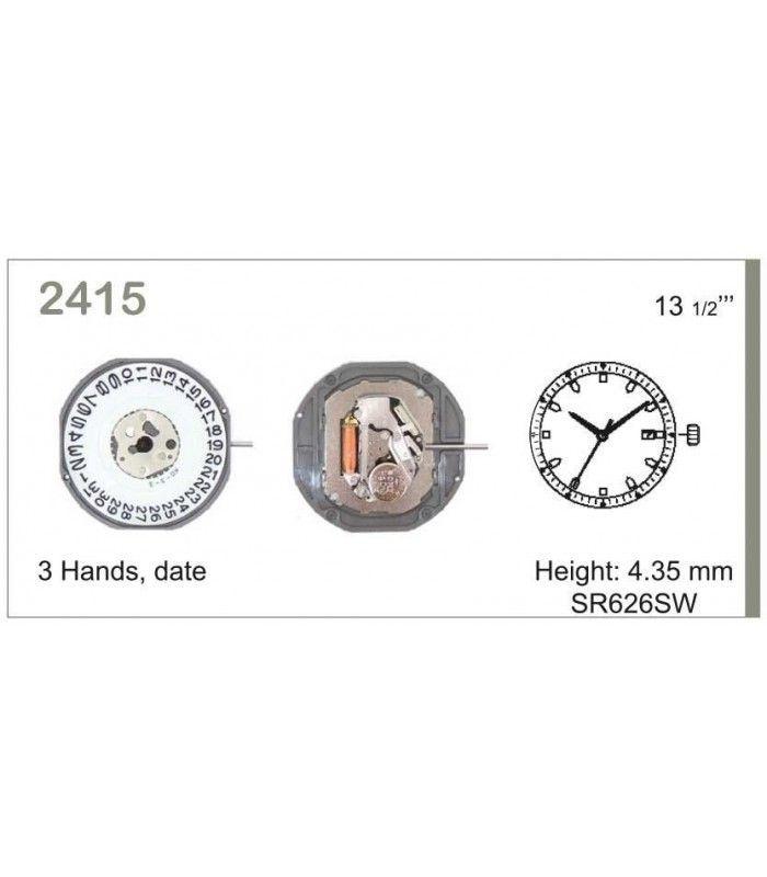 Meccanismo Orologio Ref MIYOTA 2415