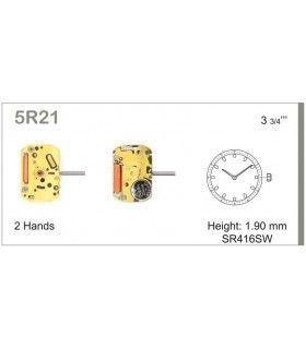 Maquinaria de reloj Ref MIYOTA 5R21