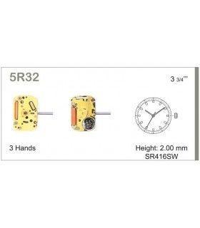 Maquinaria de reloj Ref MIYOTA 5R32