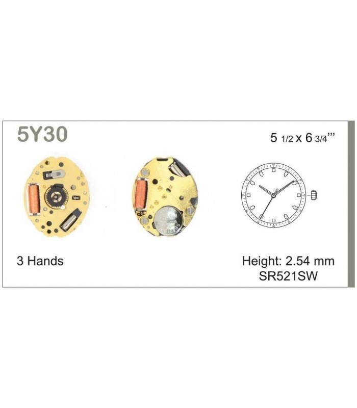 Movement for watches, MIYOTA 5Y30