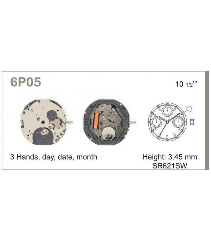 Máquina o movimiento para reloj MIYOTA 6P05