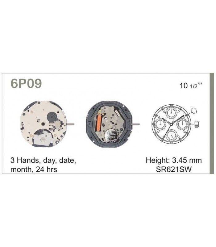 Meccanismo Orologio Ref MIYOTA 6P09