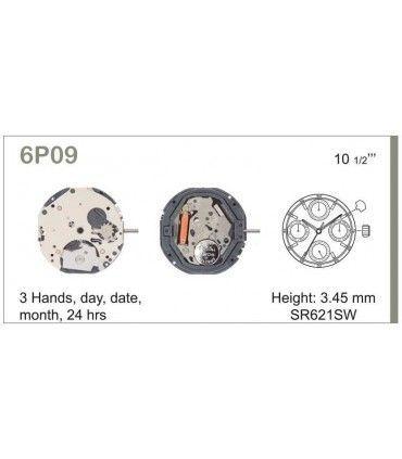 Uhrwerke Ref MIYOTA 6P09